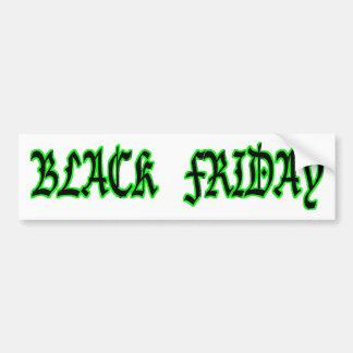 viernes negro etiqueta de parachoque