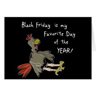 Viernes negro tarjeta de felicitación