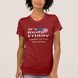 Viernes rojo camisetas