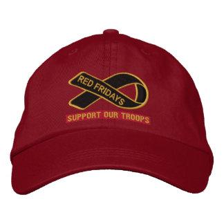 Viernes rojos apoyan nuestro gorra bordado las gorras de béisbol bordadas