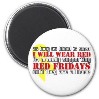 Viernes rojos imanes para frigoríficos