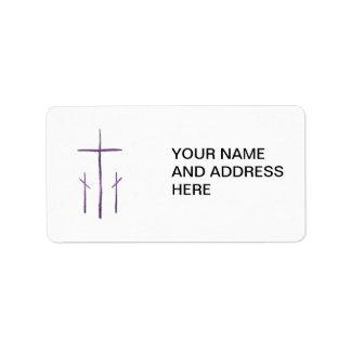 Viernes Santo - 3 cruces Etiquetas De Dirección