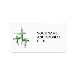 Viernes Santo - 3 cruces Etiqueta De Dirección