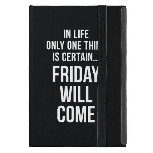 Viernes vendrá blanco divertido del negro de la ci iPad mini cárcasa