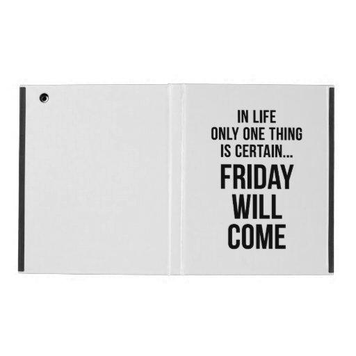 Viernes vendrá el negro blanco de la sabiduría de  iPad carcasas