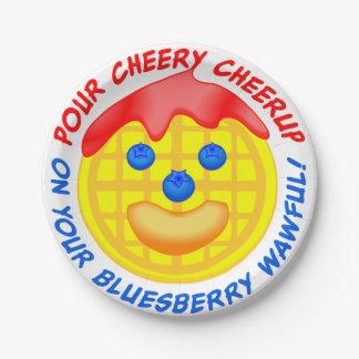 """¡""""Vierta Cheerup alegre en su Bluesberry Wawful! """" Plato De Papel De 7 Pulgadas"""