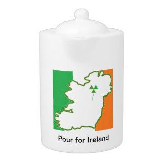 Vierta para la tetera de Irlanda