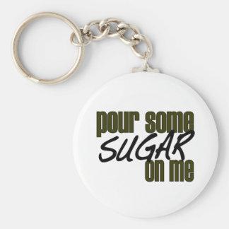 Vierta un poco de azúcar en mí llavero redondo tipo pin