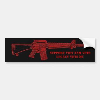 Viet Nam Legacy Vets MC M-16 Bumper Sticker
