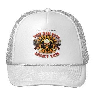 Viet Nam / Legacy Vets MC Support Had Skull Lobo Trucker Hat