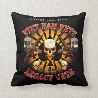 Viet Nam / Legacy Vets MC Support Pillow. Throw Pillow