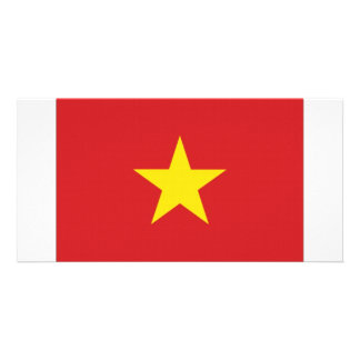 Viet Nam National Flag Customized Photo Card