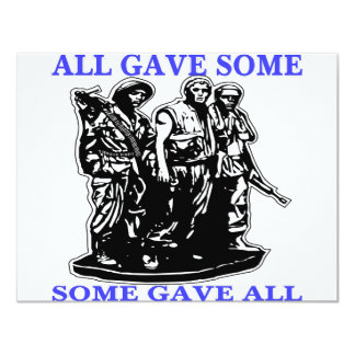 Vietnam All Gave Some & Some Gave All 4.25x5.5 Paper Invitation Card