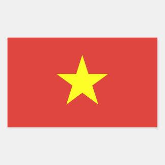 Vietnam - bandera vietnamita pegatina rectangular