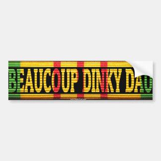 Vietnam Beaucoup Dinky Dau Ribbon Sticker Car Bumper Sticker