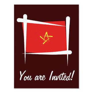Vietnam Brush Flag Card