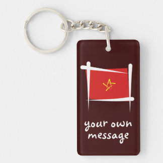 Vietnam Brush Flag Keychain