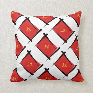 Vietnam Brush Flag Pillow