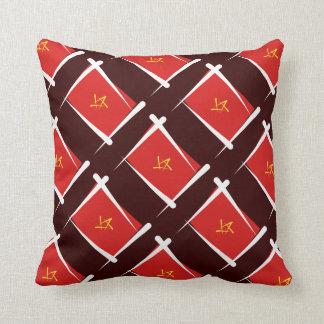 Vietnam Brush Flag Throw Pillows