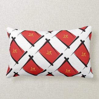 Vietnam Brush Flag Throw Pillow
