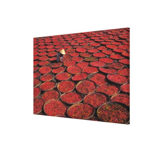 Vietnam. Candy drying in baskets under the Stretched Canvas Print