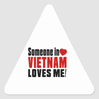 VIETNAM Celebrating Years Of Being Awesome Triangle Sticker