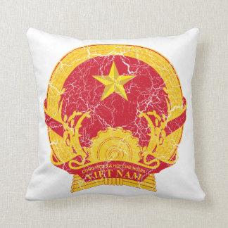 Vietnam Coat Of Arms Throw Pillows