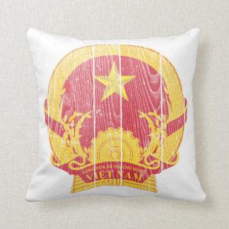 Vietnam Coat Of Arms Throw Pillow
