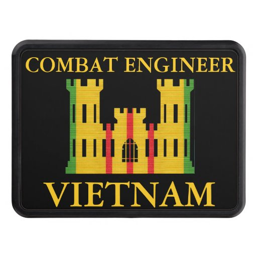 Zazzle Vietnam Combat Engineer Insignia Hitch Cover