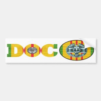Vietnam Combat Medic Doc Sticker Pair Car Bumper Sticker