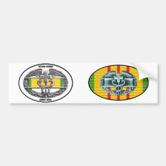 Vietnam Combat Medical Badge Sticker Pair Car Bumper Sticker