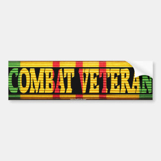 Vietnam Combat Veteran VSM Ribbon Sticker Car Bumper Sticker