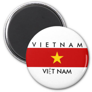 vietnam country flag name text symbol 2 inch round magnet