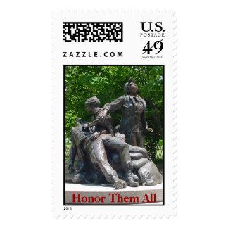 Vietnam cuida el monumento sellos