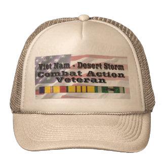 Vietnam - Desert Storm Combat Action Vet Mesh Hats