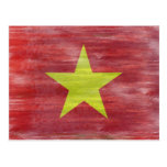 Vietnam distressed Vietnamese flag Postcard
