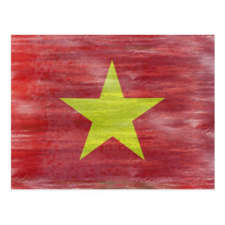 Vietnam distressed Vietnamese flag Postcard