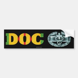 Vietnam DOC Combat Medical Badge Sticker Car Bumper Sticker