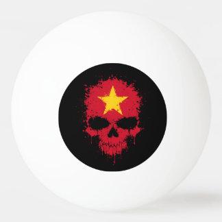 Vietnam Dripping Splatter Skull Ping-Pong Ball