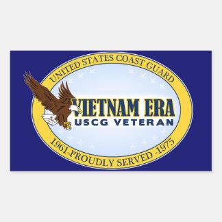 Vietnam Era Vet - Coast Guard Rectangular Sticker