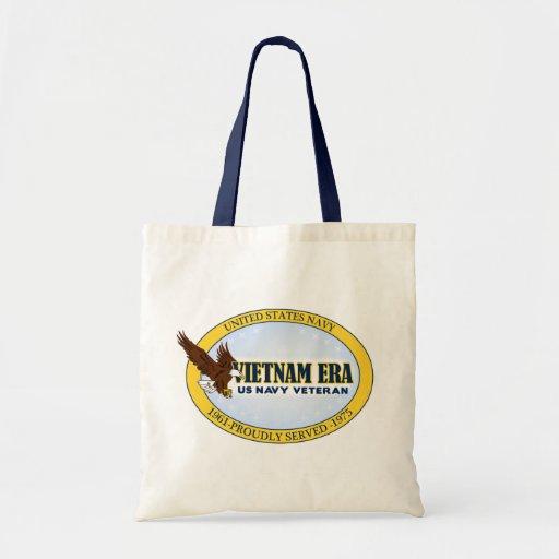 Vietnam Era Vet - Navy Budget Tote Bag