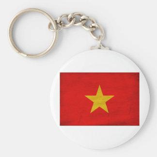 Vietnam Flag Basic Round Button Keychain