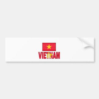 Vietnam flag bumper sticker