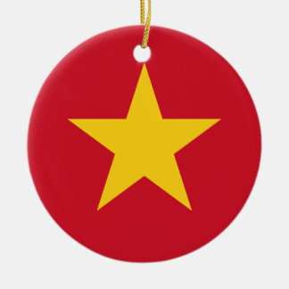 Vietnam Flag Ceramic Ornament