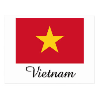 Vietnam Flag Design Postcard