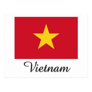 Vietnam Flag Design Postcard
