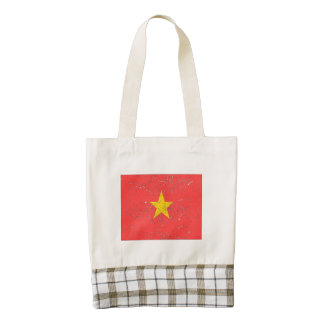 Vietnam Flag (Distressed) Zazzle HEART Tote Bag