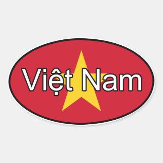Vietnam Flag Euro Sticker