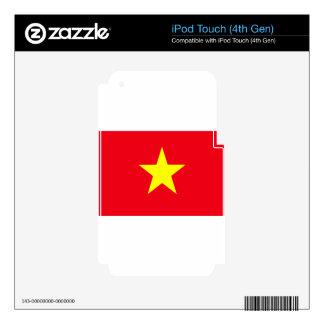 Vietnam Flag iPod Touch 4G Decals