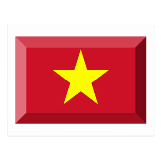 VietNam Flag Jewel Postcard